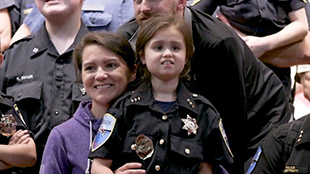 Tulalip Tribal Police Chief for a Day with young Autistic girl home page image for video still.