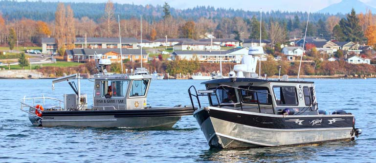Tulalip Fish & Wildlife has conducted numerous search and rescue missions, pulled distressed people form the water, assisted fishermen, and located lost fishermen and recreational invidiuals.