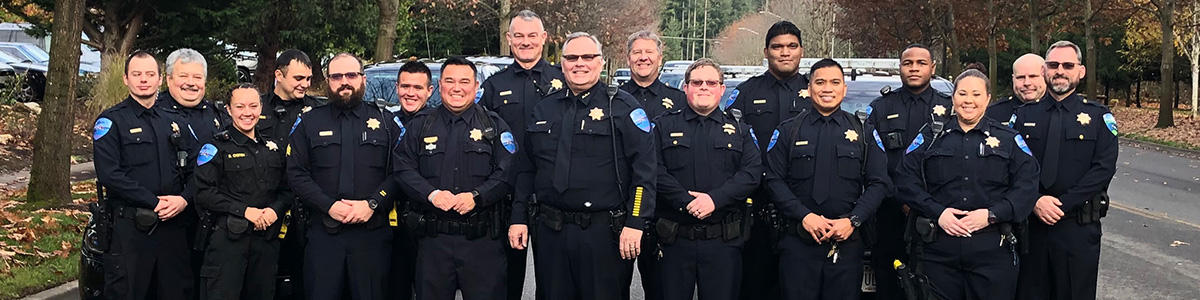 Tulalip Tribal Police home page image of all officers.