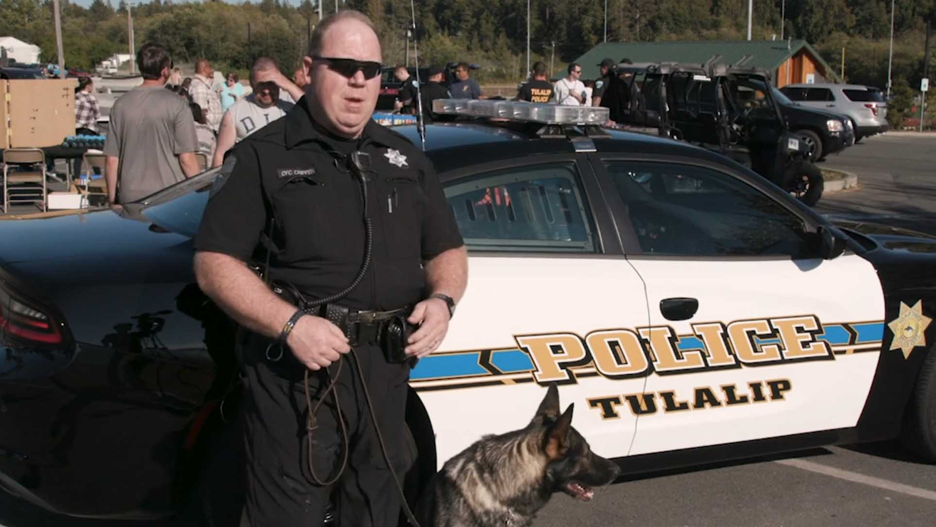 Tulalip Tribal Police poster image for the National Night Out video